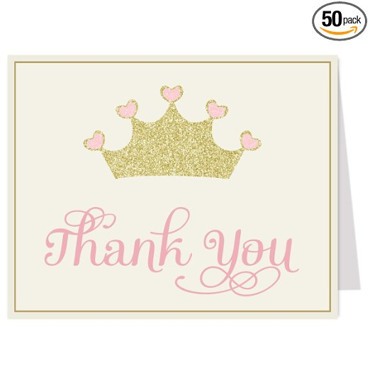 Not Just Another Southern Gal: Pretty Princess Thank You Cards by ...