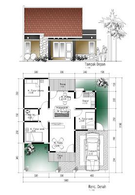 contoh denah rumah minimalis terbaru - desain gambar