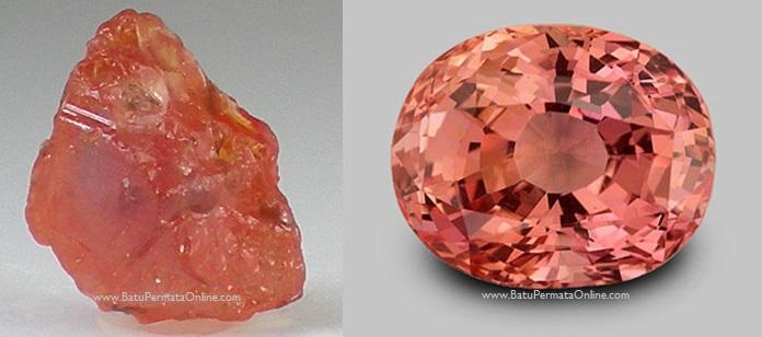 Batu Safir Padparadscha (Padparadscha safir)