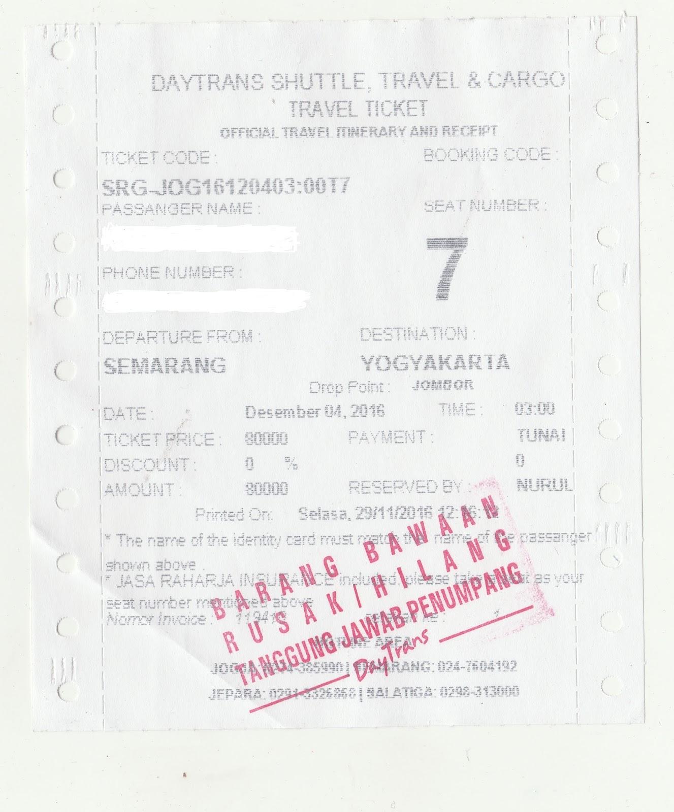 Pengalaman Naik Travel Semarang Jogja Miss Aquanette