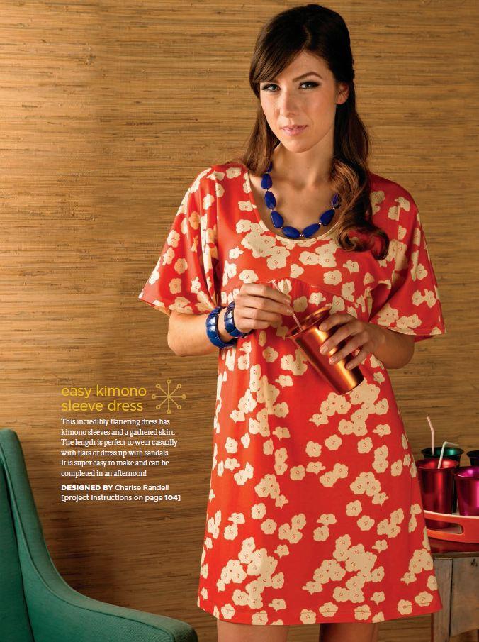 Charise Creates: Stitch With Style - Kimono Sleeve Dress