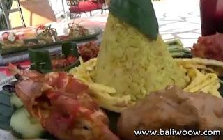 Nasi Tumpeng in Manisan Restaurant