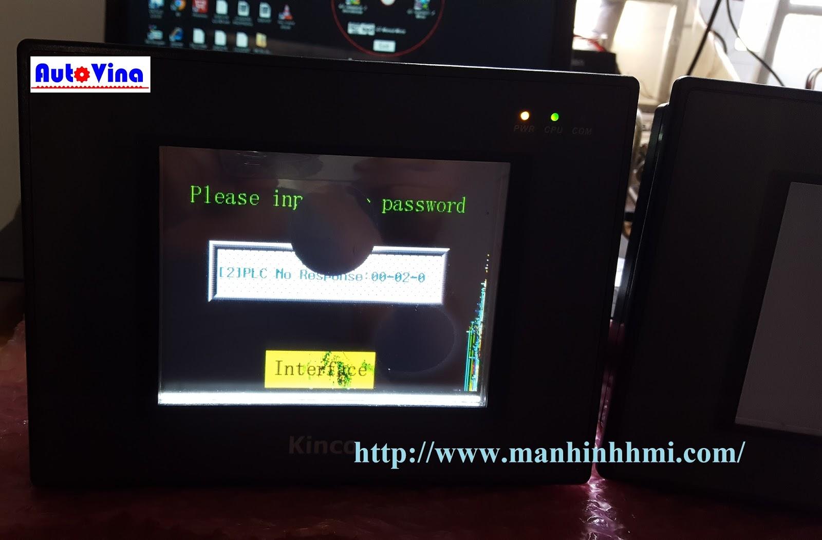 Công ty Auto Vina kiểm tra lỗi hiển thị LCD, màn hình cảm ứng MT4310C hỏng LCD