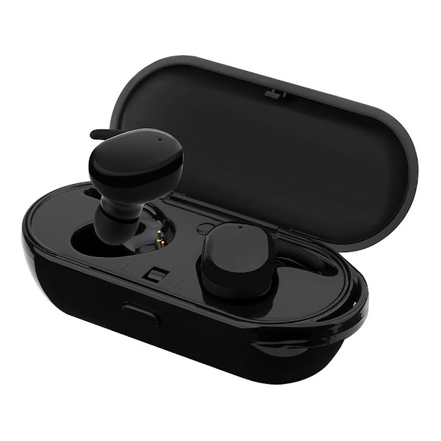 Wireless Stereo Bluetooth Earphones with Built-In Mic & Charging Case