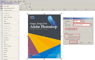 Cara Membuat Desain Cover Buku dengan CorelDRAW X4, cara menjadikan gambar file corel, cara membuat file corel menjadi jpeg