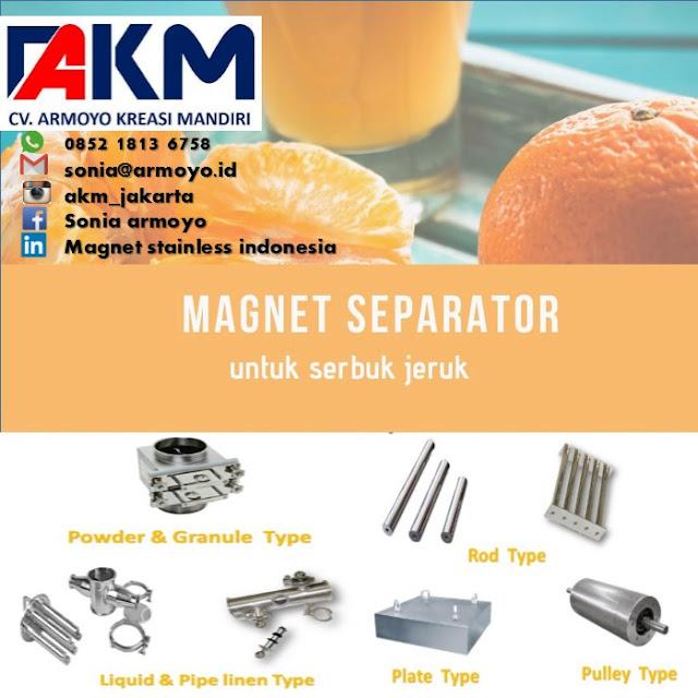 magnet separtor jeruk
