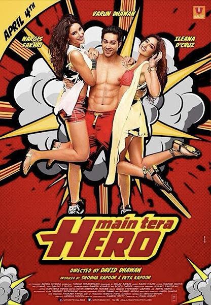 Poster of Main Tera Hero (2014) Full Movie [Hindi-DD5.1] 720p BluRay ESubs Download