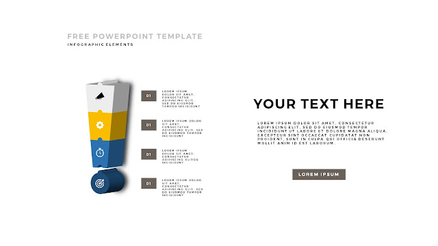 Free PowerPoint Template with 3D Puzzle and Sign Infographic Elements Slide 4