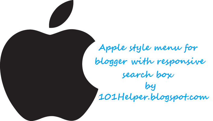 Apple style horizontal menu for blogger with search box | 101helper blogger menus