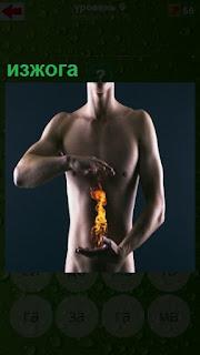 изжога в организме у человека в области желудка