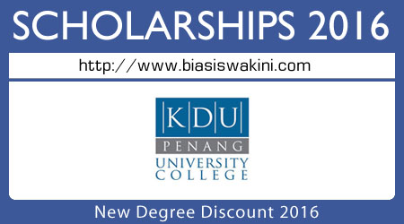 New Degree Discount 2016