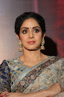 Sri Devi in designer saree stunning beauty at the launch of MOM movie Trailer~  Exclusive 076.JPG