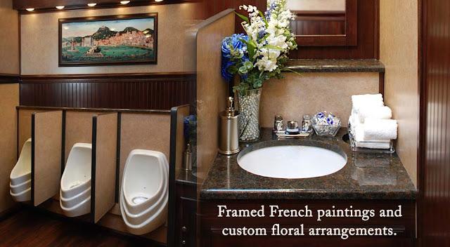 Oxford Luxury Restroom Trailer Inside