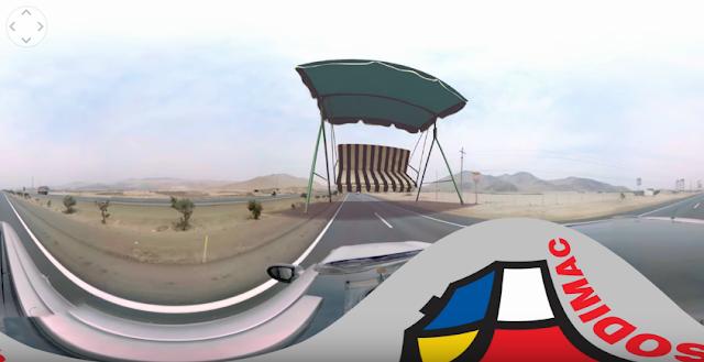 campaña publicitaria de Sodimac en una autopista de Perú