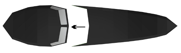 Step 3 in Batmobile paper model build instruction
