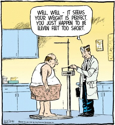 Doctor Perfect Weight Too Short Cartoon