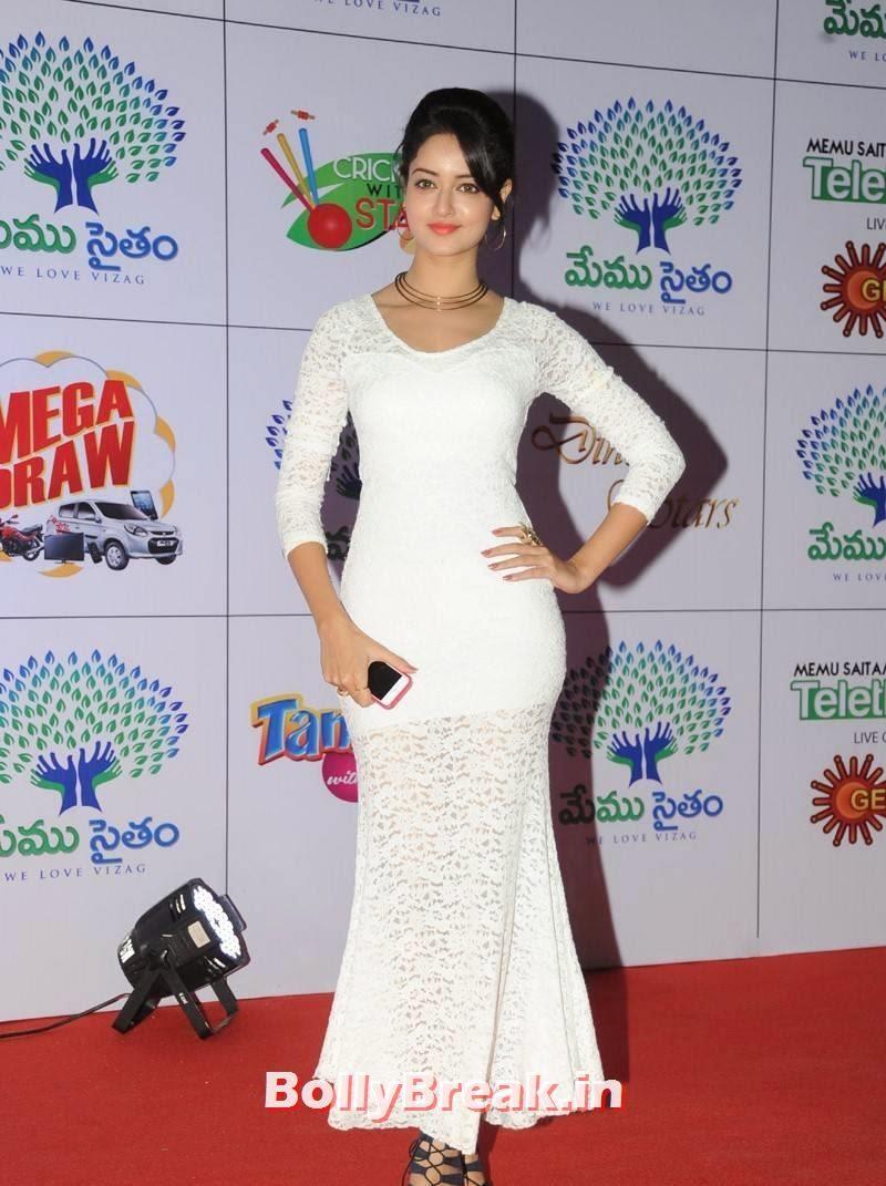 Shanvi Photoshoot Stills, Actress Shanvi Hot Sexy Pics in White Dress