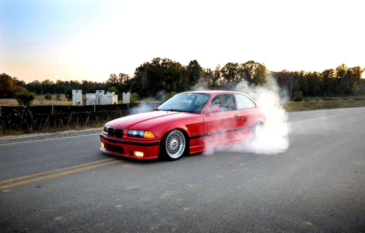 Bmw E36 Red Tuning Parking Hd Wallpaper Wallpapers Jobs