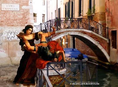 fotomontaggio dipinti-Scoria dell'Arte