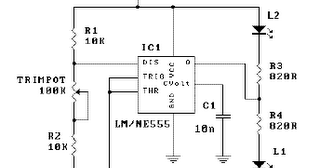 Wiring diagram for 3 way switch: LED Flasher Circuit Using
