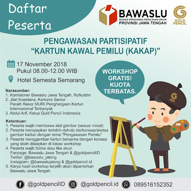 Daftar Peserta Workshop Kartun Kawal Pemilu