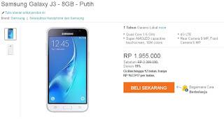 Harga Baru Samsung Galaxy J3 (2016) Android 5 inch Murah 1 Jutaan