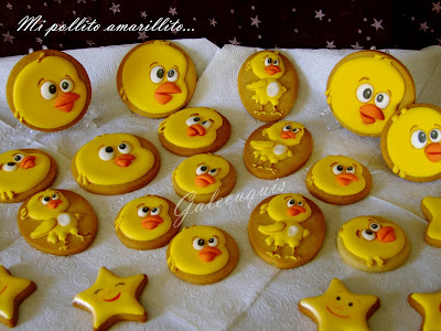galletas decoradas mi pollito amarillito