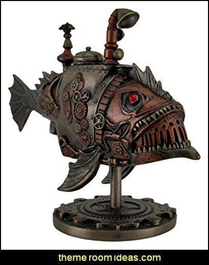 Steampunk Submarine Sci-Fi Fantasy Statue