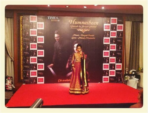Shreya Ghoshal addressing her father on Humnasheen music launch event and her Birthday!