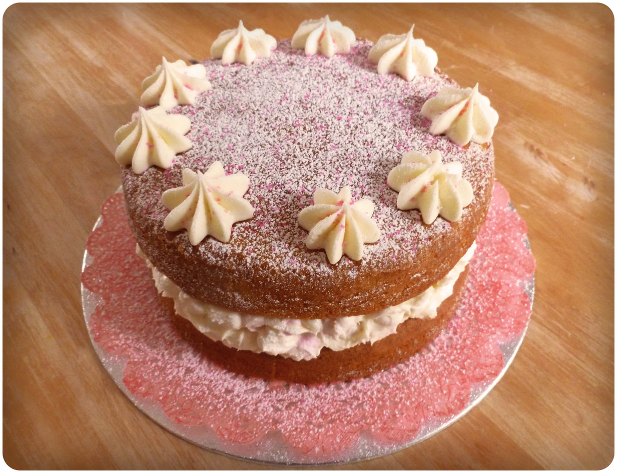 I Made Two Of These Cakes Last Month For A Family And Friend S Birthday It Simple Sponge Cake Filled