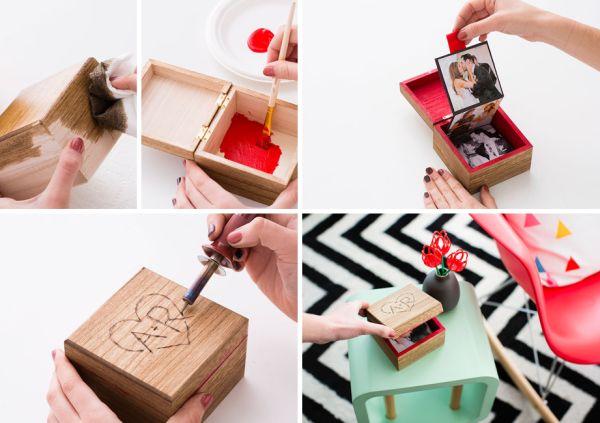 Dia dos namorados 2019 caixa com fotos presente artesanal
