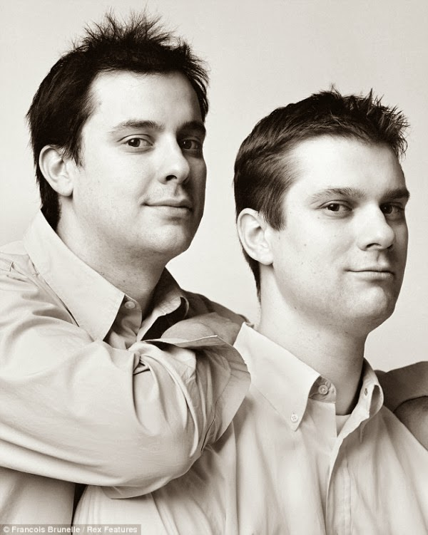 Francois Brunelle twins portraits