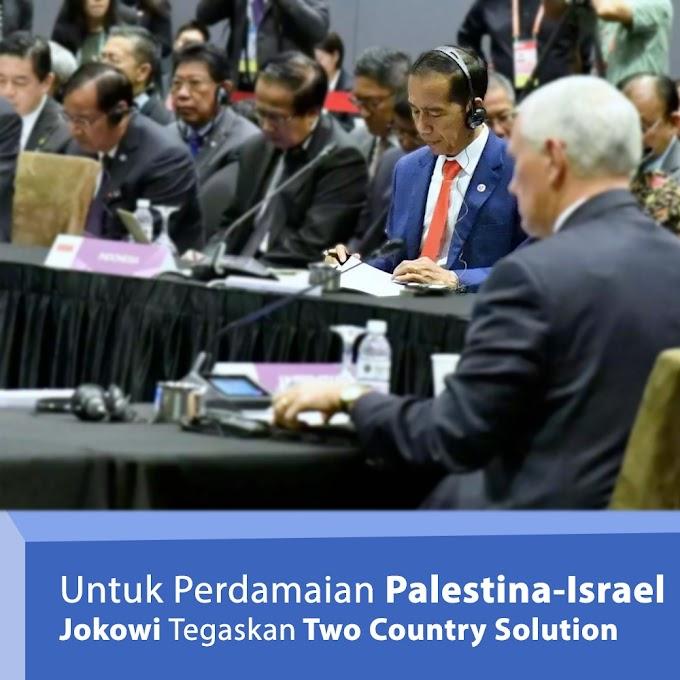 Untuk Perdamaian Palestina - Israel, Jokowi Tegaskan Two Country Solution