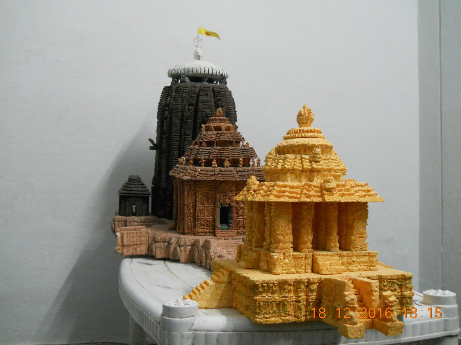 home made models: REPLICA OF SUN TEMPLE OF KONARK, ODISHA, INDIA