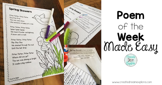 Poem of the Week Activities Plus a FREEBIE!