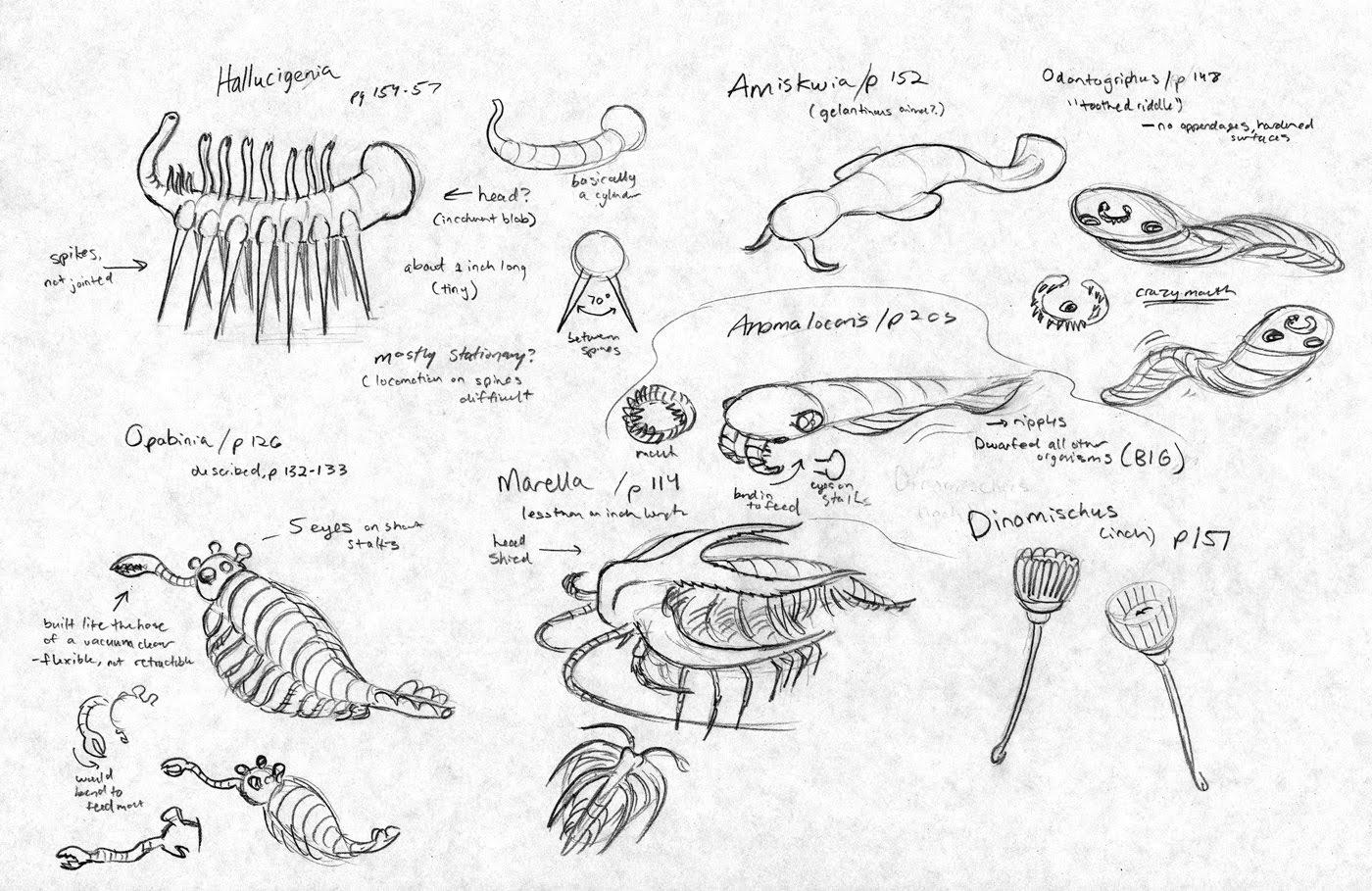 Jinx the Monkey :: Drip!: Hallucigenia of the Cambrian