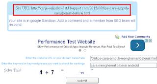 cara mengatasi artikel yang kena google sanbox