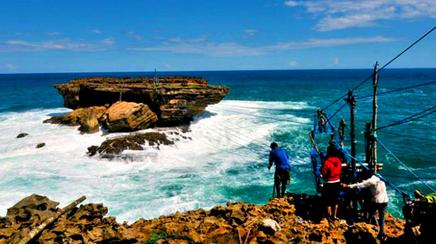 Objek wisata gondola pantai timang di jogja