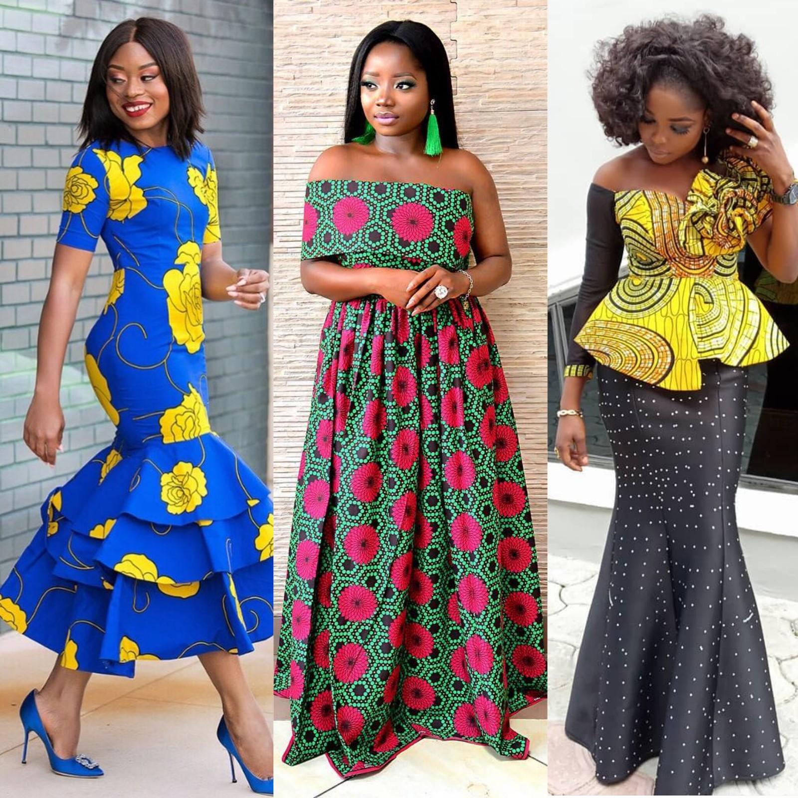 Fashion Dresses 2019: Vitenge Long Dress Fashion 2018-2019