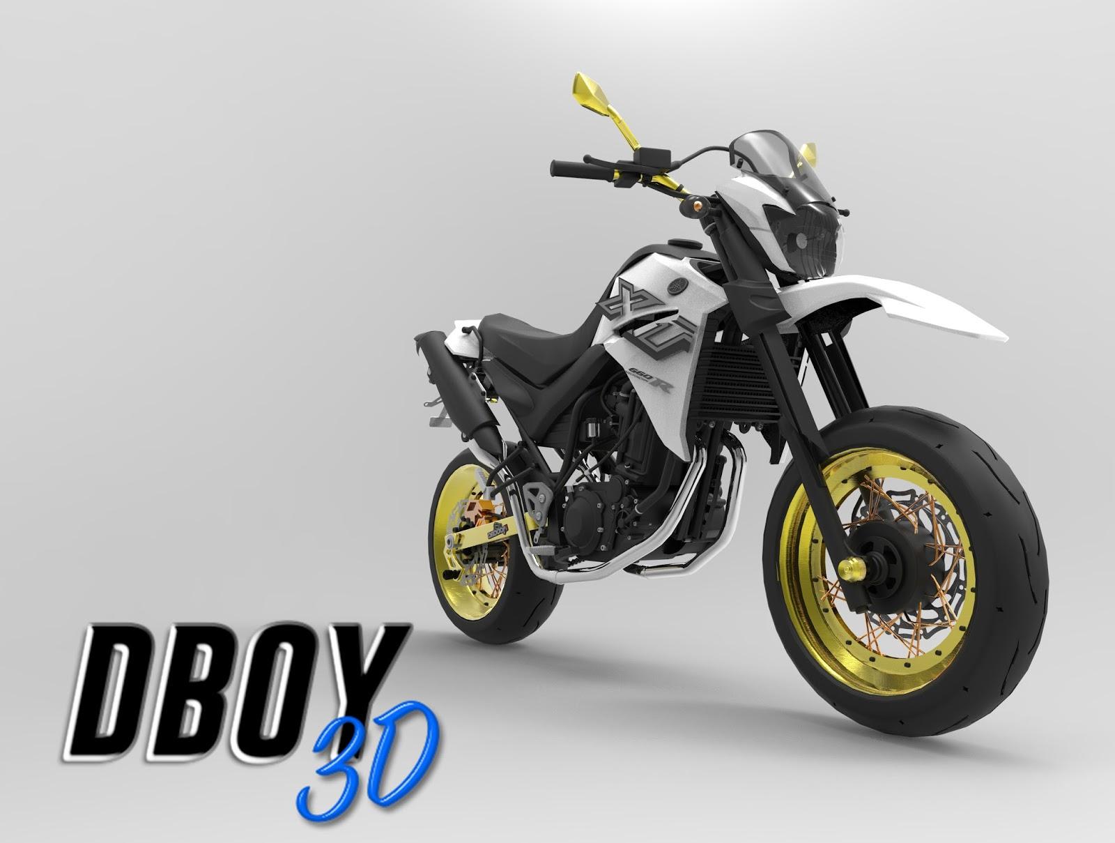 Yamaha Xt 660 Supermotard Dboy 3d