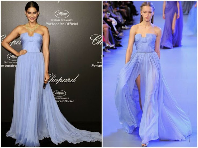 Sonam Kapoor in Elie Saab Couture – Chopard Dinner