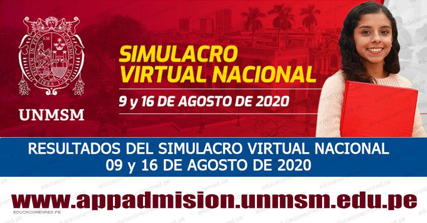 UNMSM: Resultados Simulacro Virtual Nacional 2020-2 (Domingo 16 Agosto 2020) Lista de Aprobados - Examen de Admisión - Áreas Ingeniería y Humanidades - Ciencias Jurídicas y Sociales - Universidad Nacional Mayor de San Marcos - www.unmsm.edu.pe