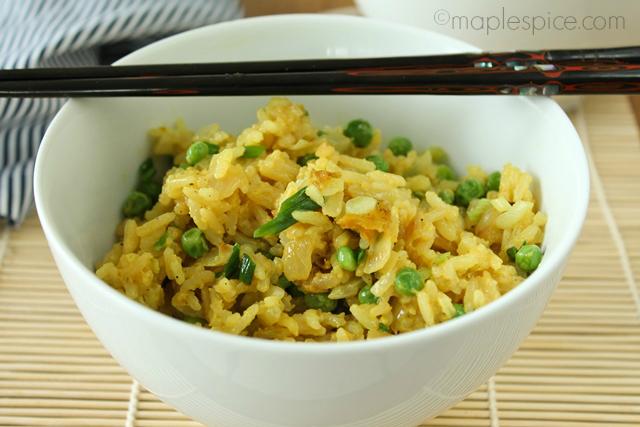 Maple Spice Vegan Egg Fried Rice