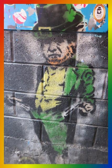 Leprechaun Street Art at the Bernard Shaw Pub in Dublin