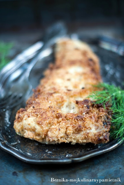 dorsz, ryba, panko, obiad, bernika, kulinarny pamietnik, filet