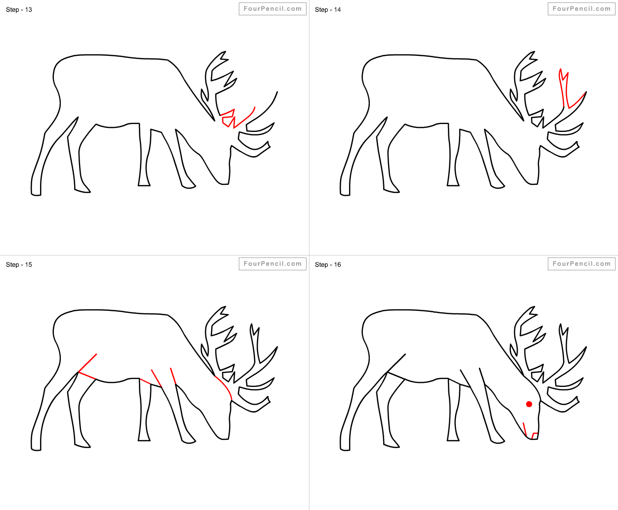 Easy Caribou Sketch