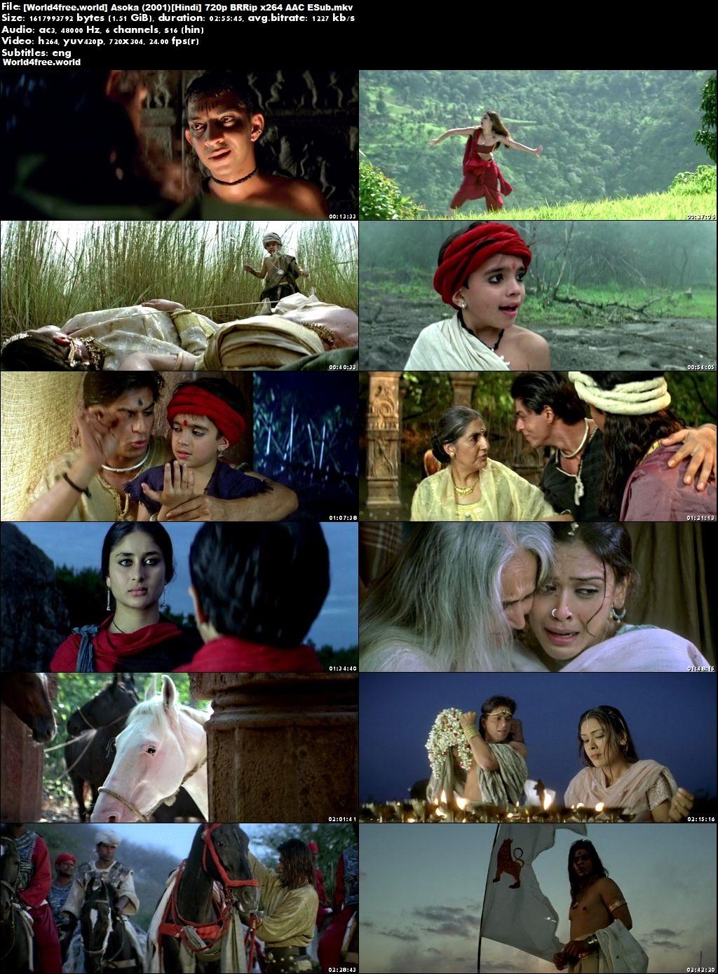 Screen Shoot of Asoka 2001 Full Hindi Movie BRRip 720p Download