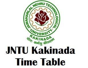 JNTU Kakinada Exam Time Table 2017