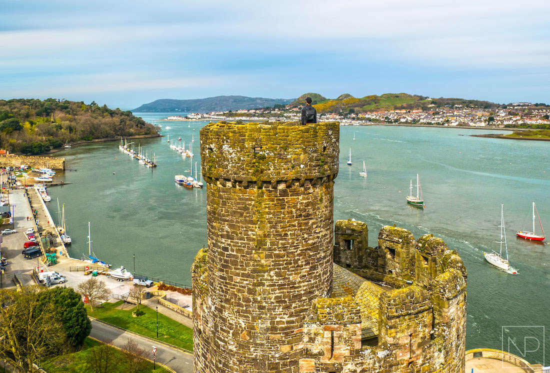 View from Conwy Castle over the river towards Llandudno