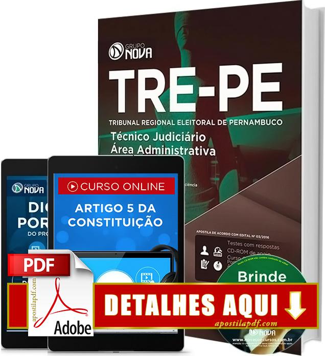 Apostila TRE PE 2016 Técnico Judiciário Impressa